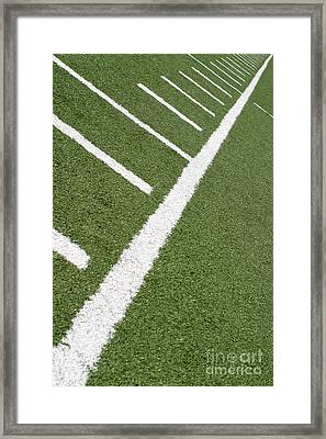 Framed Print featuring the photograph Football Lines by Henrik Lehnerer