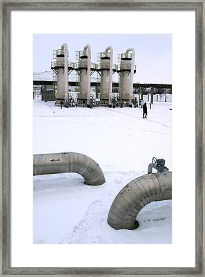 Gas Fuel Compressor Plant Framed Print by Ria Novosti