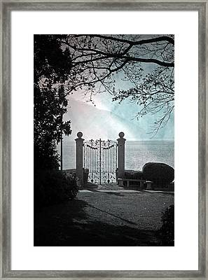 Gateway To The Lake Framed Print by Joana Kruse