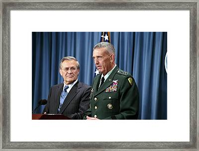 General Tommy Franks Commander Of U.s Framed Print by Everett