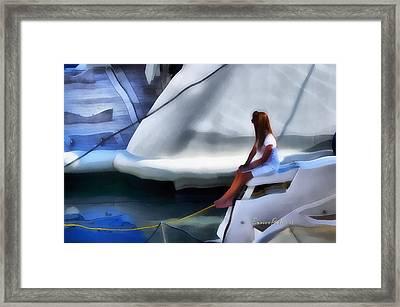 Genova Salone Nautico Internazionale - Genoa Boat Show Framed Print by Enrico Pelos
