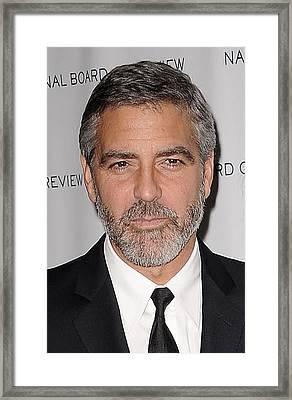 George Clooney, Elisabetta Canalis Framed Print