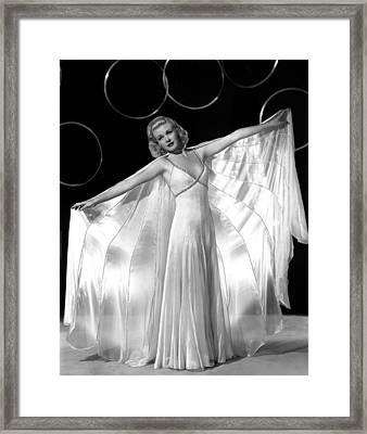 Ginger Rogers, In A Publicity Portrait Framed Print by Everett