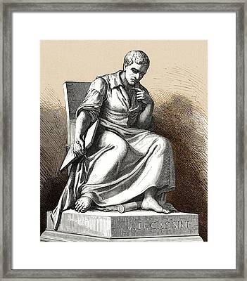 Giovanni Cassini, Italian Astronomer Framed Print by Sheila Terry