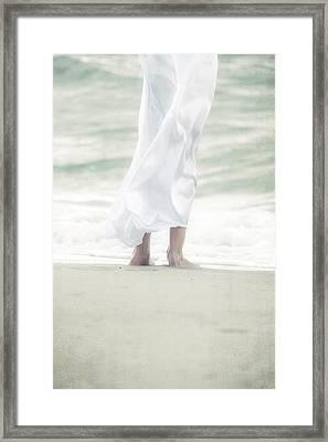 Girl At The Sea Framed Print