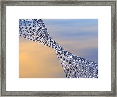 Graphene Sheet, Artwork Framed Print