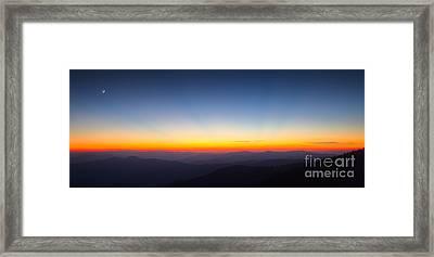 Great Smokie Mountains Sunset Framed Print by Dustin K Ryan