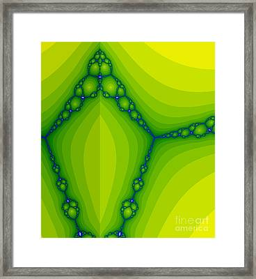 Green Fractal  Framed Print by Odon Czintos