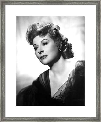 Greer Garson, Ca. 1940s Framed Print by Everett