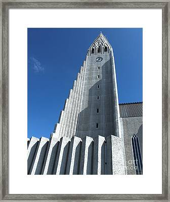 Hallgrimskirkja Church - Reykjavik Iceland  Framed Print by Gregory Dyer