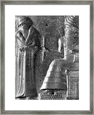 Hammurabi, Babylonian King And Lawmaker Framed Print by Photo Researchers