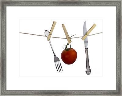 Hanging Food Framed Print by Blink Images