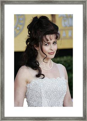 Helena Bonham Carter At Arrivals Framed Print by Everett