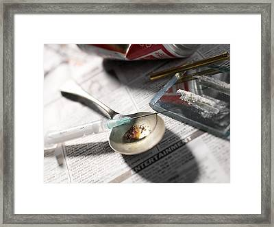 Heroin Abuse Framed Print
