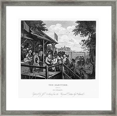 Hogarth: Election Framed Print by Granger