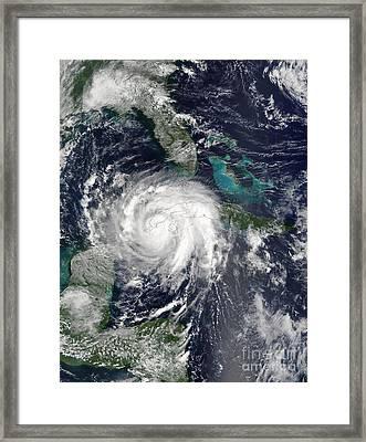 Hurricane Lili Framed Print by Stocktrek Images