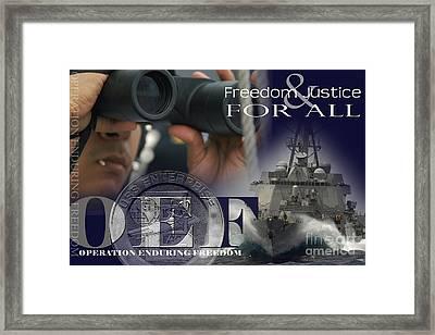 Illustration Of Crew Members Involved Framed Print by Stocktrek Images