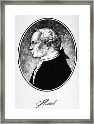 Immanuel Kant (1724-1804) Framed Print