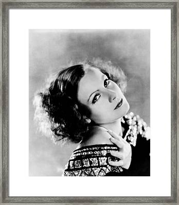 Inspiration, Greta Garbo, Portrait Framed Print