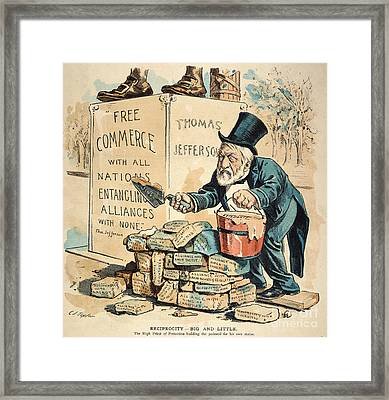James G. Blaine Cartoon Framed Print
