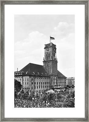 J.f.k. In Berlin, 1963 Framed Print