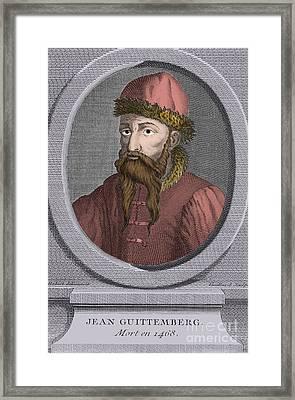 Johannes Gutenberg, German Inventor Framed Print