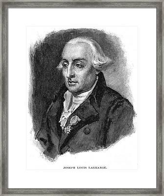 Joseph Louis Lagrange Framed Print by Granger