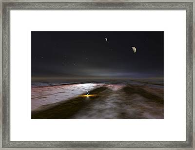 Jupiter And Its Moons, Artwork Framed Print by Walter Myers