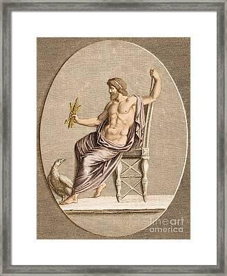 Jupiter, Roman God Framed Print