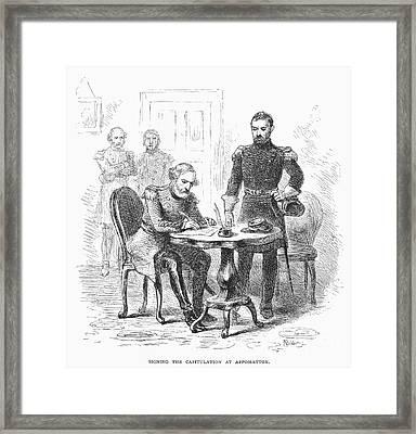 Lees Surrender, 1865 Framed Print by Granger