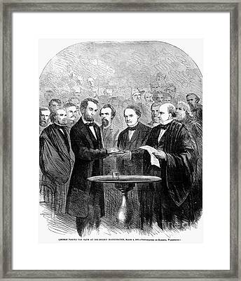 Lincolns Inauguration Framed Print by Granger