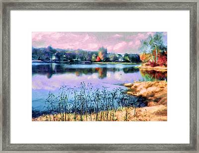 Longview Lake Framed Print by Laurie Douglas