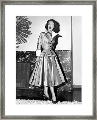 Loretta Young Show, Loretta Young Framed Print by Everett