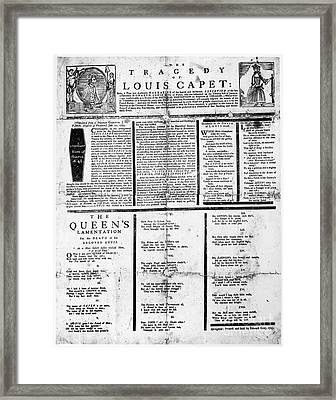 Louis Xvi: Execution, 1793 Framed Print by Granger