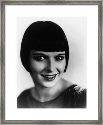 Louise Brooks, Ca. Late 1920s Framed Print by Everett