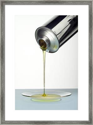 Lubricating Oil Framed Print
