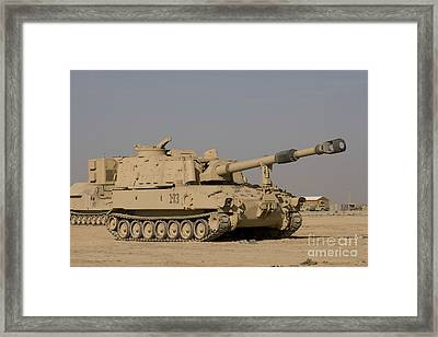 M109 Paladin, A Self-propelled 155mm Framed Print by Terry Moore