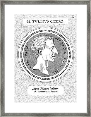 Marcus Tullius Cicero Framed Print