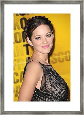 Marion Cotillard At Arrivals Framed Print