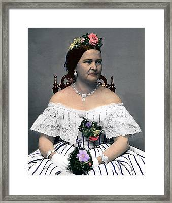 Mary Todd Lincoln 1818-1882, Wife Framed Print by Everett