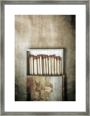 Matches Framed Print by Joana Kruse