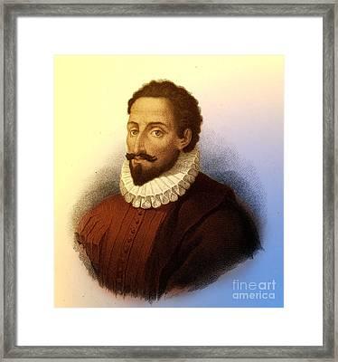 Miguel De Cervantes, Spanish Author Framed Print