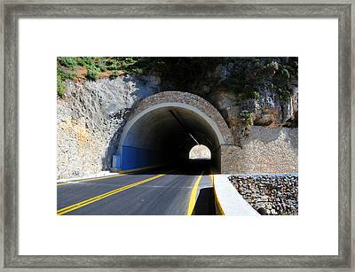 Mountain Tunnel. Framed Print by Fernando Barozza