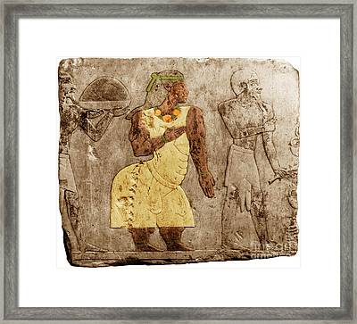 Muscular Dystrophy, Ancient Egypt Framed Print