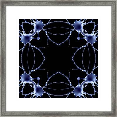 Neurons, Kaleidoscope Artwork Framed Print by Pasieka