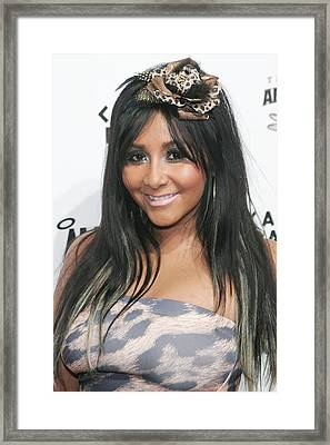 Nicole Snooki Polizzi At Arrivals Framed Print by Everett