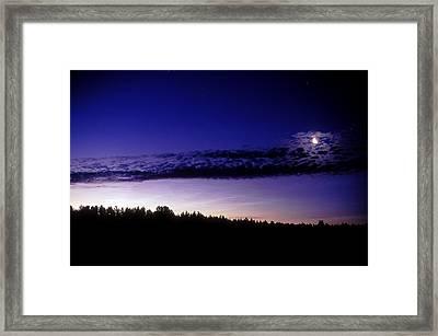 Noctilucent Cloud Framed Print by Pekka Parviainen
