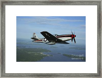 North American P-51 Cavalier Mustang Framed Print by Daniel Karlsson