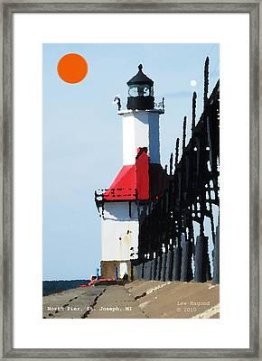 North Pier St Joseph Michigan Framed Print
