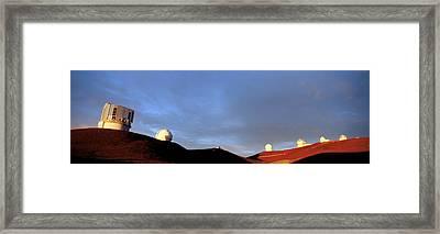 Observatories On Summit Of Mauna Kea Framed Print by David Nunuk